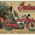 Indian Scout Motorcycle Model 101 TIN SIGN