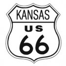 US Route 66 Kansas TIN SIGN