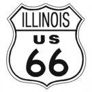 US Route 66 Illinois TIN SIGN