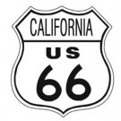 US Route 66 California TIN SIGN