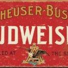 Anheuser-Busch Budweiser - WEATHERED TIN SIGN