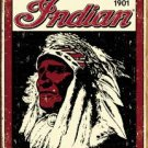 Indian MotorcyclesChief  WEATHERED TIN SIGN