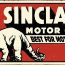 Sinclair Motor Oils Dinosaur TIN SIGN