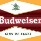 Budweiser  - Kin og Beers - Bullseye logo TIN SIGN