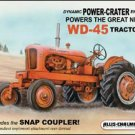 Allis Chalmers - WD45 Tractor TIN SIGN