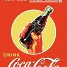 Coke - Coca Cola - The Real Thing - Bottle TIN SIGN