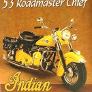 1953 Indian Motorcycles Roadmaster Chief TIN SIGN