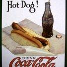 Coke - Coca Cola w/ Hot Dog TIN SIGN
