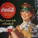 Coke - Coca Cola Female Machinist TIN SIGN