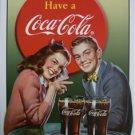 Coke - Coca Cola Young Couple TIN SIGN