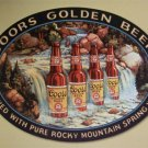 Coors Golden Beer Waterfall TIN SIGN