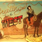 Greetings from the West TIN SIGN