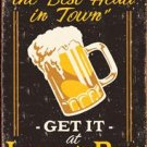Best head in town - get it at Lucky's Bar TIN SIGN