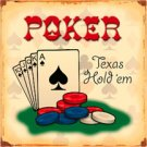 Texas Hold'em Poker TIN SIGN
