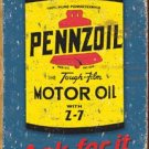 """""""Pennzoil Motor Oil - Ask For It"""" TIN SIGN"""