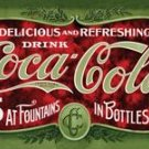 Coca Cola - 1900's - Coke 5 cents at fountains & in bottles TIN SIGN