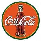 Coke - Coca Cola - Round 30's Bottle & Logo TIN SIGN