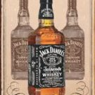 'Jack Daniel's Whiskey - Charcoal Mellowed drop by drop' TIN SIGN