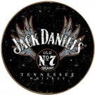 Jack Daniel's winged logo round TIN SIGN