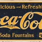 Coca Cola 1910 Logo WEATHERED TIN SIGN
