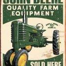 John Deere Tractors - 'Quality Farm Equipment Sold Here' TIN SIGN