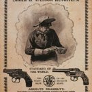 Smith & Wesson Revolvers - Standard of the World TIN SIGN