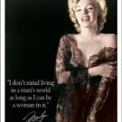 Norma Jean Baker aka Marilyn Monroe 'In a Man's World' faux autograph / signatureTIN SIGN