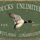 Ducks Unlimited Wetlands Conservation, 1937 TIN SIGN