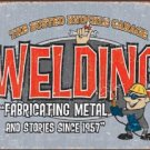 Busted Knuckle Garage Welding & Fabricating TIN SIGN