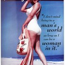 Norma Jean Baker aka Marilyn Monroe Living in a Man's World bikini on beach TIN SIGN