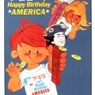 Pez says Happy Birthday America TIN SIGN