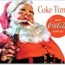 Coca Cola Christmas Santa Coke Time TIN SIGN