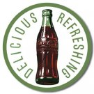 Coke - Coca Cola 60's bottle & logo TIN SIGN