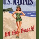 Garry Palm US Marines Hit the Beach TIN SIGN