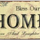 'Bless Our Home With Love and Laughter' TIN SIGN