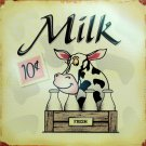 Fresh Milk TIN SIGN