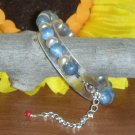 GENUINE BLUE CORAL and PEARLS GEM BRACELET