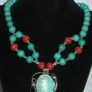 Genuine Turquoise, and Coral Necklace