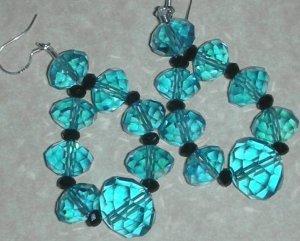 Gorgeous Blue Crystal Earrings