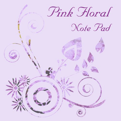 Custom Pink Floral Note Pad