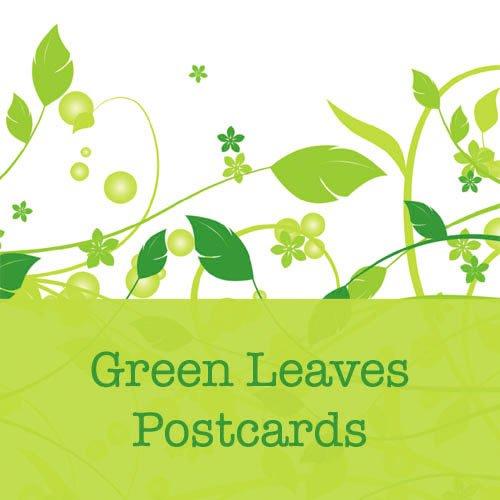 100 Green Leaves Standard Postcards