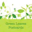 100 Green Leaves Standard Postcards