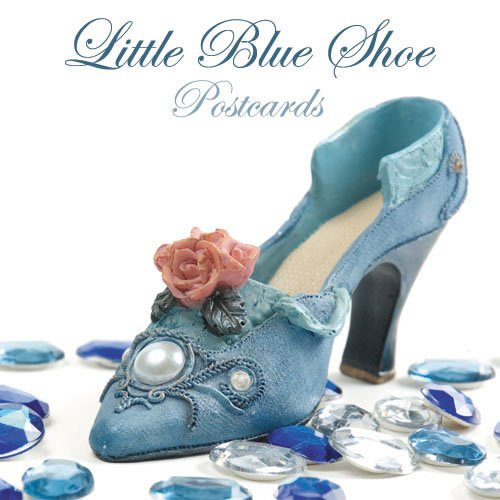 100 Little Blue Shoe Standard Postcards