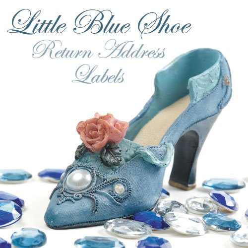 280 Little Blue Shoe Return Address Labels