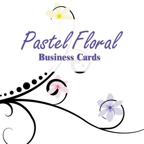 500 Pastel Floral Two-Sided Business Cards