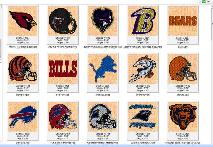 Over 50 NFL Great Logos