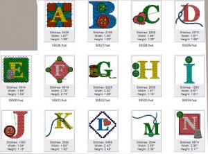 Cute Sewing Alphabet