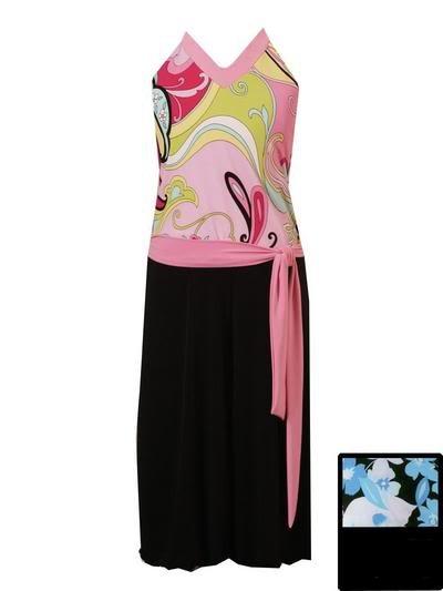 Rare Editions Pink Paisley Gaucho Sz 8 NWT
