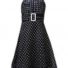 Rare Editions Black and White Halter Dress-Sz 6-NWT