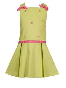 Rare Editions Watermelon Pleated Dress  Size 5